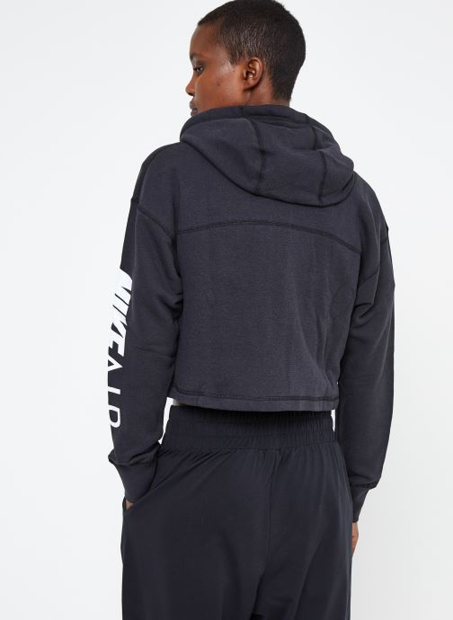 Ropa Nike W Nike Sportwear Air Hoodie Full Zip Flc Negro vista del modelo