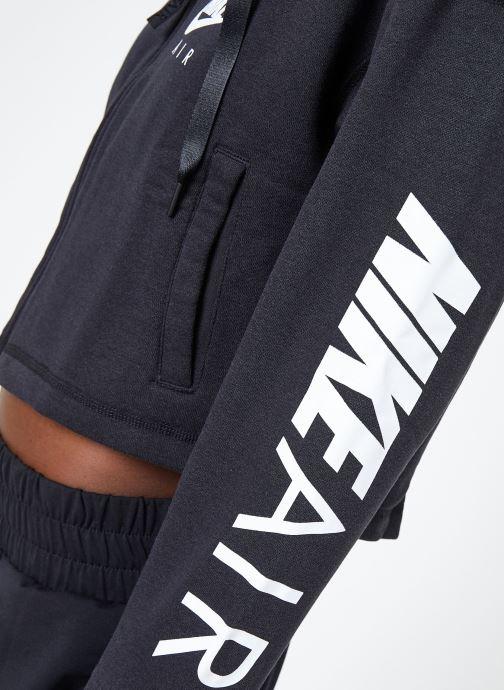 Ropa Nike W Nike Sportwear Air Hoodie Full Zip Flc Negro vista de frente
