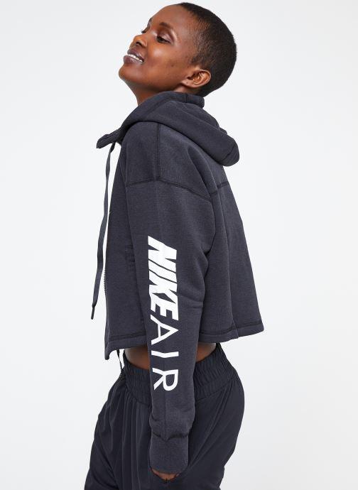 Ropa Nike W Nike Sportwear Air Hoodie Full Zip Flc Negro vista lateral derecha