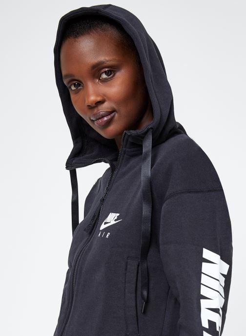 Ropa Nike W Nike Sportwear Air Hoodie Full Zip Flc Negro vista de detalle / par