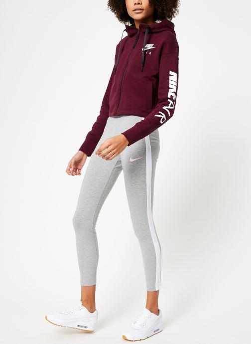 Vêtements Nike W Nike Sportwear Air Hoodie Full Zip Flc Marron vue bas / vue portée sac