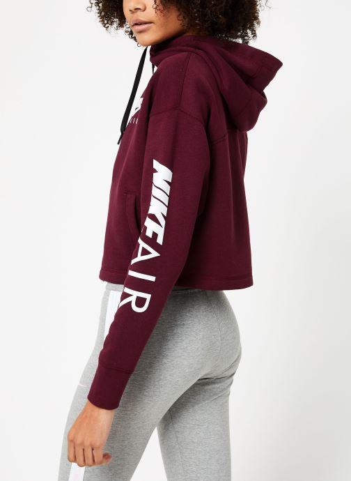 Vêtements Nike W Nike Sportwear Air Hoodie Full Zip Flc Marron vue portées chaussures