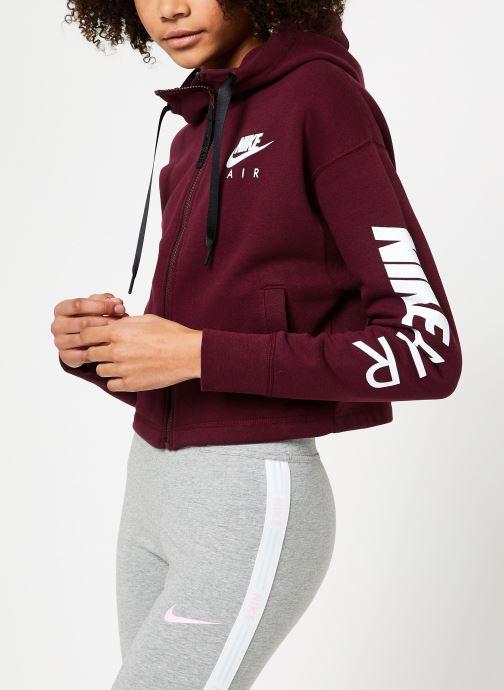 Vêtements Nike W Nike Sportwear Air Hoodie Full Zip Flc Marron vue droite