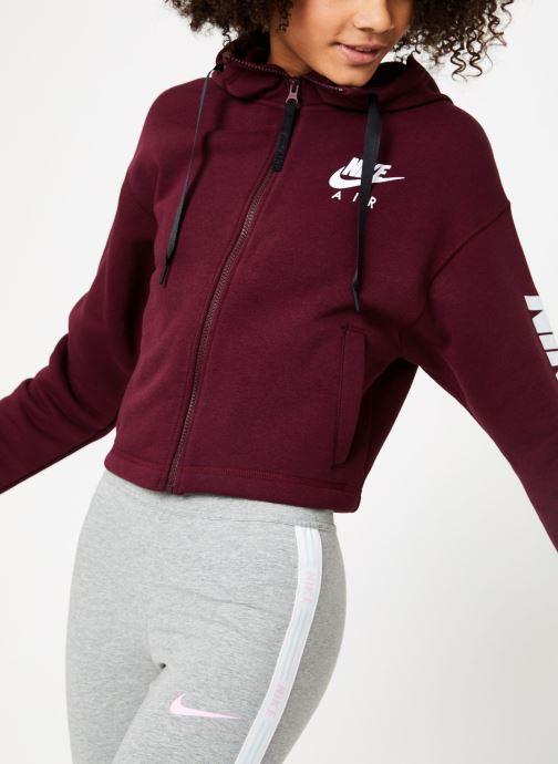 Vêtements Nike W Nike Sportwear Air Hoodie Full Zip Flc Marron vue détail/paire