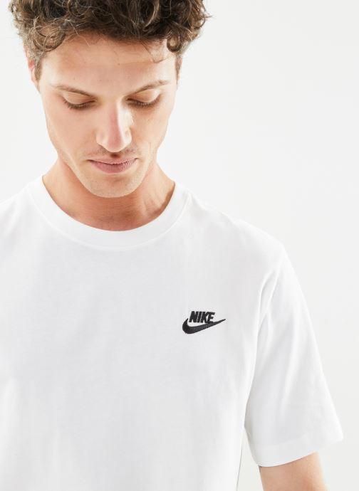 Vêtements Nike M Nike Sportwear Club Tee Blanc vue face