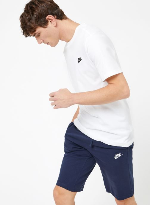 Vêtements Nike M Nike Sportwear Club Tee Blanc vue droite