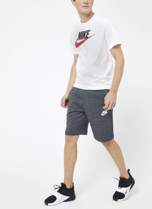Vêtements Nike M Nike Sportwear Tee Icon Futura Blanc vue portées chaussures