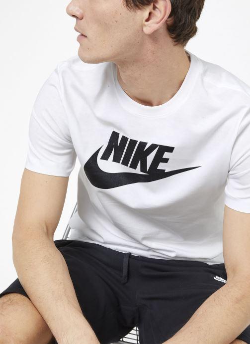 Vêtements Nike M Nike Sportwear Tee Icon Futura Blanc vue détail/paire