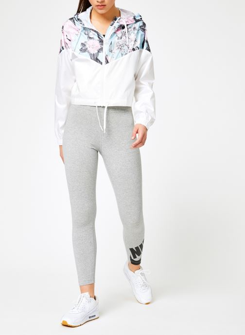 Kleding Nike W Nike Sportwear Hyp Fm Jacket Crop Wr Aop Wit onder