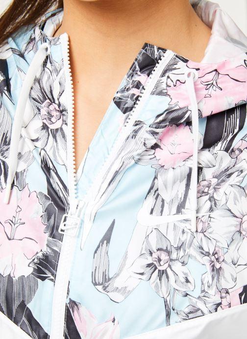 Vêtements Nike W Nike Sportwear Hyp Fm Jacket Crop Wr Aop Blanc vue face
