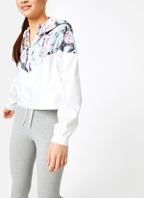 Vêtements Nike W Nike Sportwear Hyp Fm Jacket Crop Wr Aop Blanc vue droite