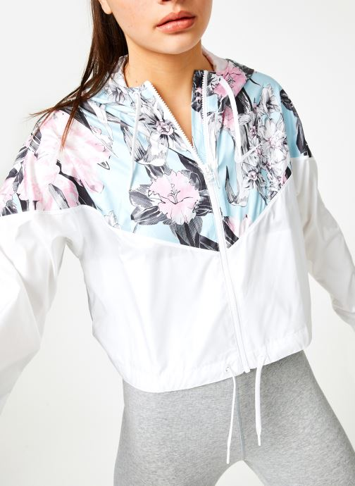 Vêtements Nike W Nike Sportwear Hyp Fm Jacket Crop Wr Aop Blanc vue détail/paire