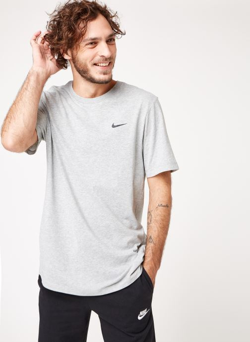 Ropa Nike M Nike Dry Tee Dfc Crew Solid Gris vista lateral derecha