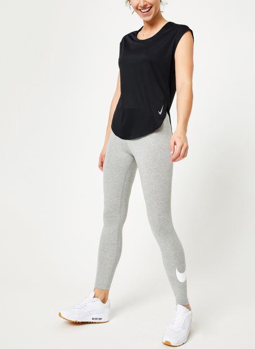 Kleding Nike W Nike City Sleek Top Short-Sleeve Zwart onder