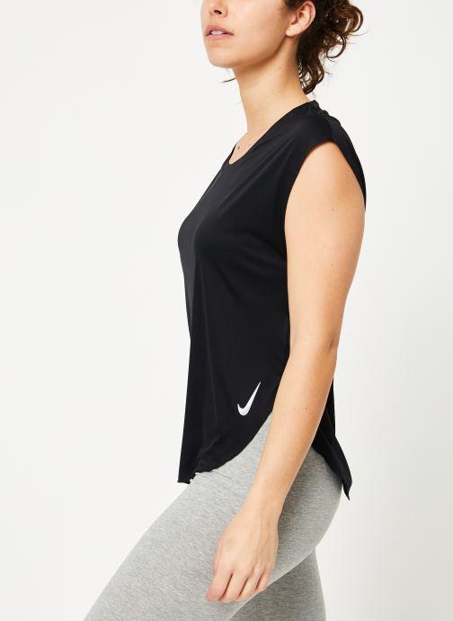 Kleding Nike W Nike City Sleek Top Short-Sleeve Zwart rechts