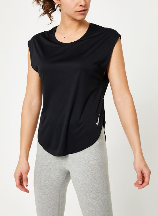 Kleding Nike W Nike City Sleek Top Short-Sleeve Zwart detail