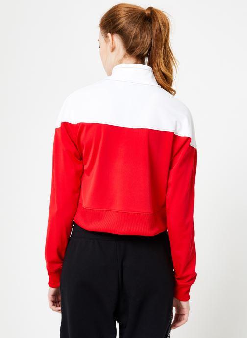 Vêtements Nike W Nike Sportwear Hrtg Track Jacket Pk Rouge vue portées chaussures