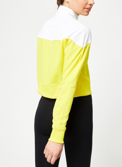 Vêtements Nike W Nike Sportwear Hrtg Track Jacket Pk Jaune vue portées chaussures