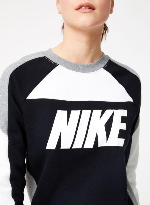 Kleding Nike W Nike Sportswear Crew Flc Cb Zwart voorkant