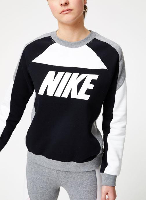 Kleding Nike W Nike Sportswear Crew Flc Cb Zwart detail