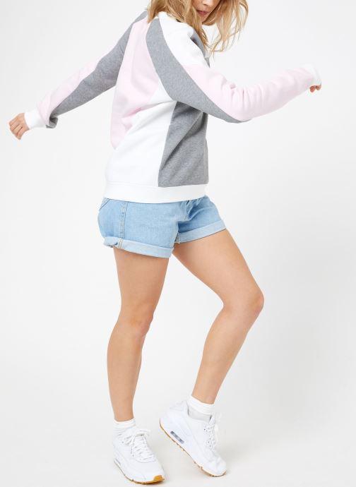 Vêtements Nike W Nike Sportwear Crew Flc Cb Gris vue bas / vue portée sac