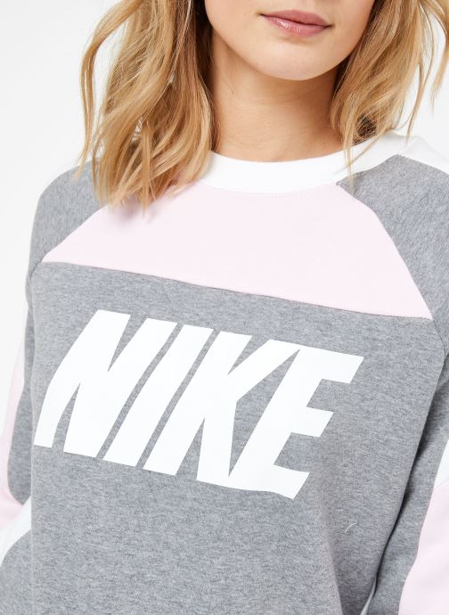 Vêtements Nike W Nike Sportwear Crew Flc Cb Gris vue face