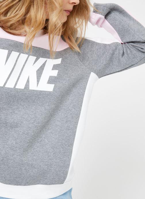 Vêtements Nike W Nike Sportwear Crew Flc Cb Gris vue détail/paire