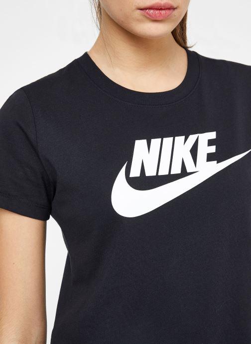 Kleding Nike W Nike Sportwear Tee Essential Icon Futura Zwart voorkant
