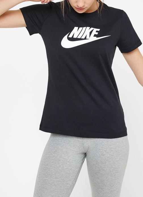 Kleding Nike W Nike Sportwear Tee Essential Icon Futura Zwart rechts