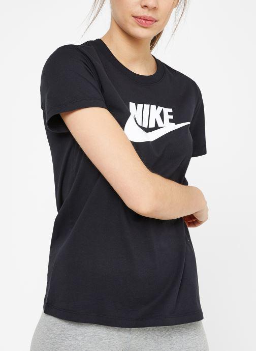 Kleding Nike W Nike Sportwear Tee Essential Icon Futura Zwart detail