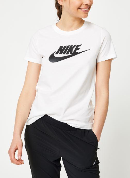 Kläder Nike W Nike Sportwear Tee Essential Icon Futura Vit Bild från höger sidan