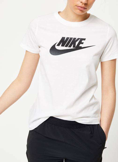 Kläder Nike W Nike Sportwear Tee Essential Icon Futura Vit detaljerad bild på paret