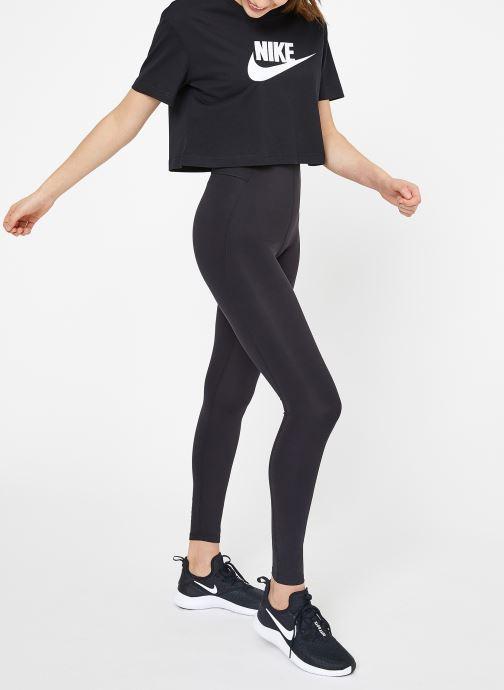 Abbigliamento Nike W Nike Sportwear Tee Essential Crp Icn Ftra Nero immagine dal basso
