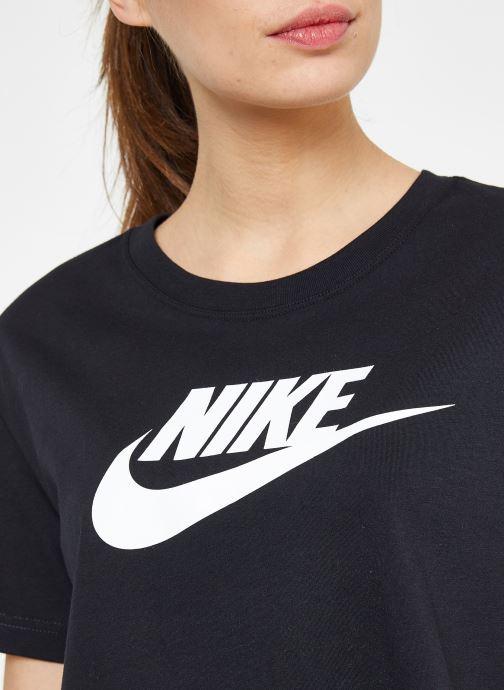 Kleding Nike W Nike Sportwear Tee Essential Crp Icn Ftra Zwart voorkant