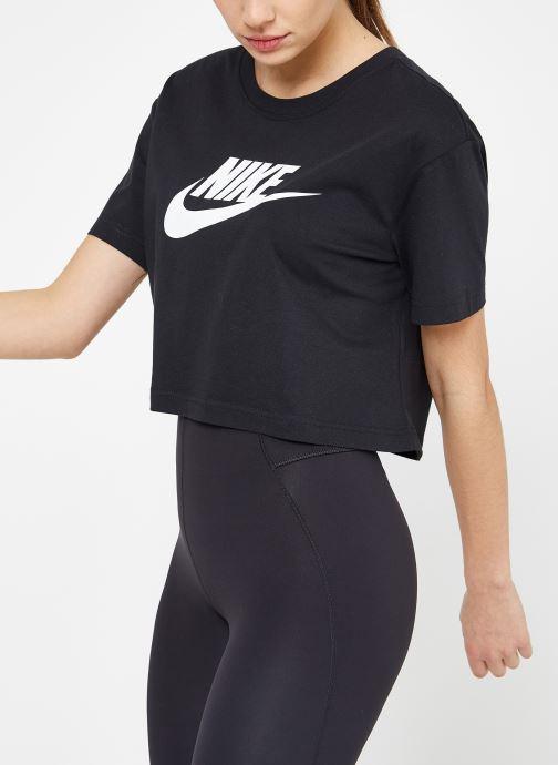 Kleding Nike W Nike Sportwear Tee Essential Crp Icn Ftra Zwart rechts