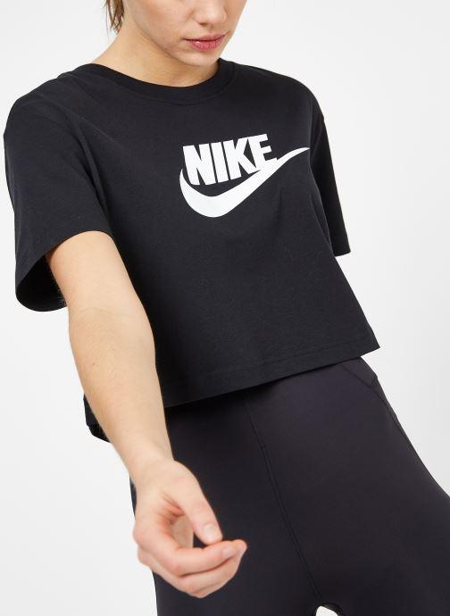 Kleding Nike W Nike Sportwear Tee Essential Crp Icn Ftra Zwart detail