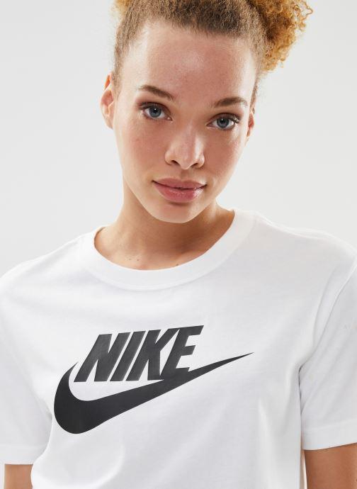 Kleding Nike W Nike Sportwear Tee Essential Crp Icn Ftra Wit voorkant