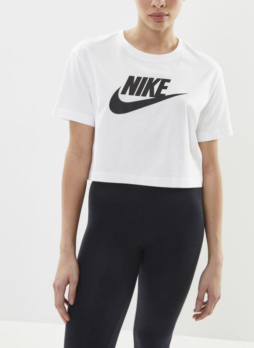 Kleding Nike W Nike Sportwear Tee Essential Crp Icn Ftra Wit rechts