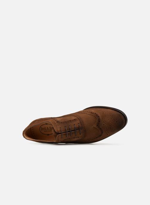 Zapatos con cordones Brett & Sons Henry Marrón vista lateral izquierda