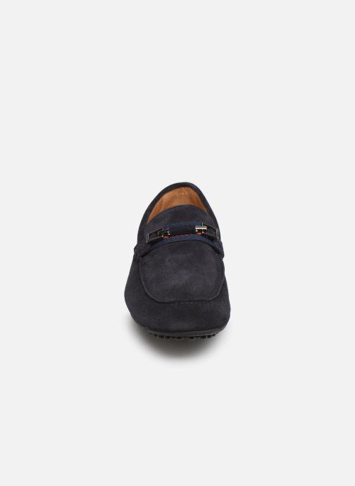 Mocassins Brett & Sons Gareth Bleu vue portées chaussures