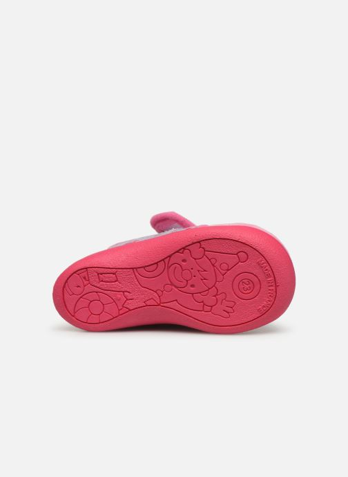 Slippers Rondinaud Rony Pink view from above