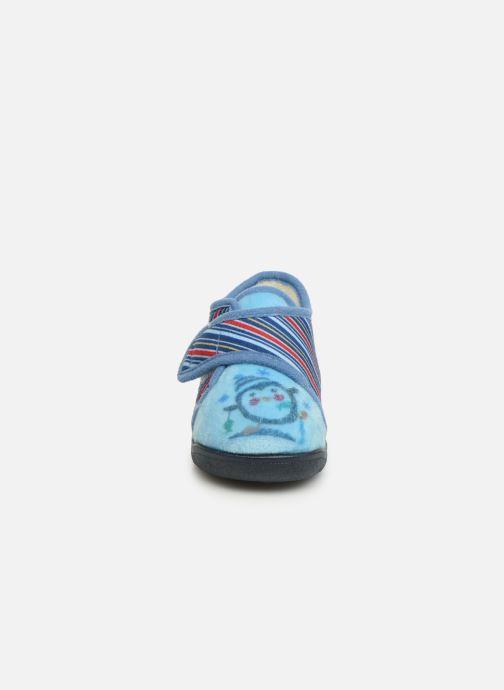 Hausschuhe Rondinaud Rony blau schuhe getragen