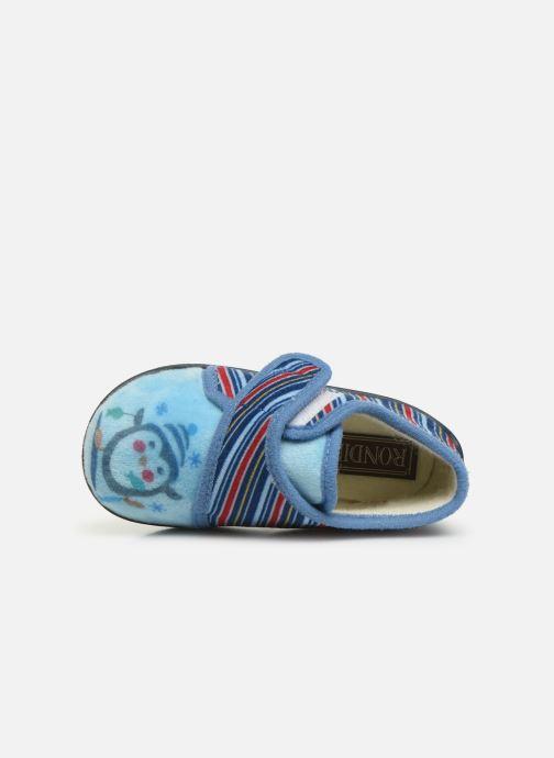 Pantofole Rondinaud Rony Azzurro immagine sinistra