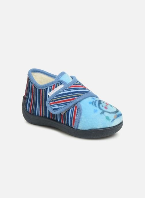 Slippers Rondinaud Rony Blue detailed view/ Pair view