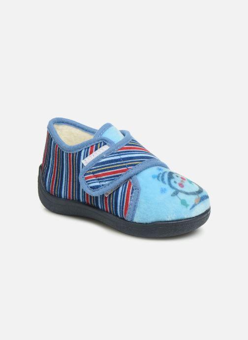 Pantuflas Rondinaud Rony Azul vista de detalle / par