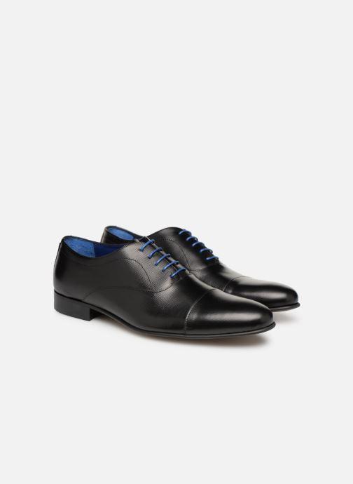 Zapatos con cordones Azzaro Cipria Negro vista 3/4