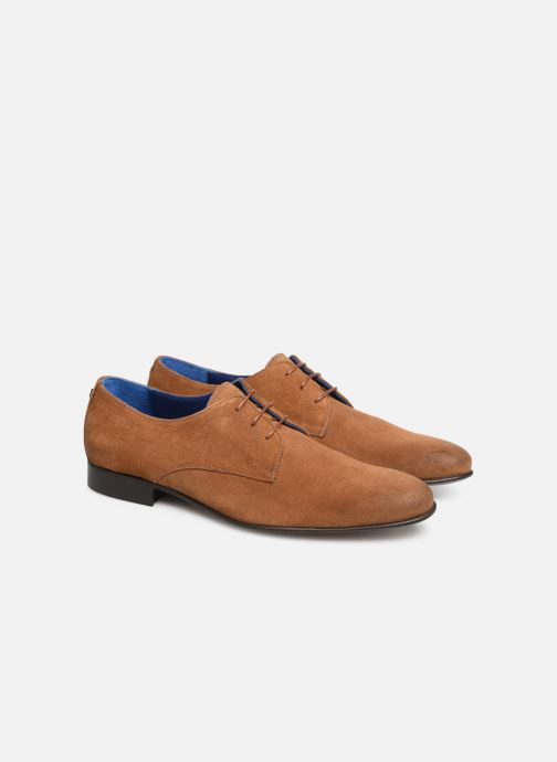 Lace-up shoes Azzaro Cristalin Brown 3/4 view