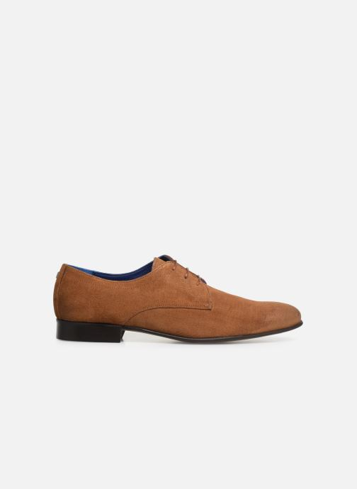 Lace-up shoes Azzaro Cristalin Brown back view