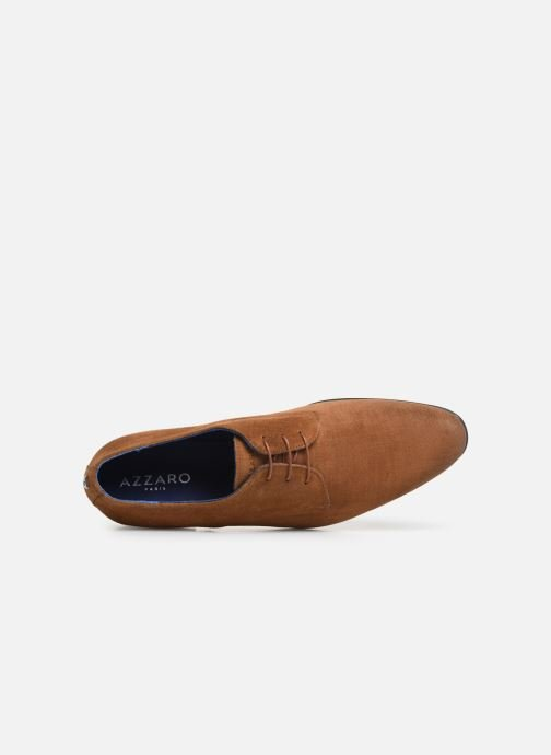 Lace-up shoes Azzaro Cristalin Brown view from the left
