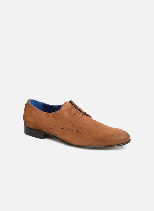 Zapatos con cordones Azzaro Cristalin Marrón vista de detalle / par